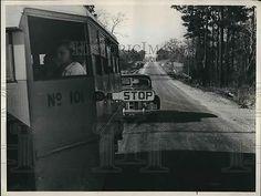 1938 Press Photo North Carolina School Bus