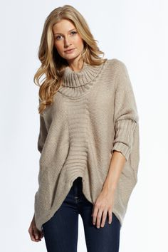 comfy casual butterfly cut sweater