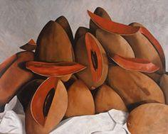 Mameyes grandes con fondo gris, 2007, óleo/lino 200 x 250 cm