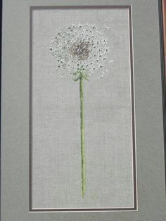 "Dandelion cross stitch...I would stitch underneath ""make a wish"""