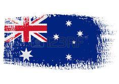 pincelada de Australia de la bandera