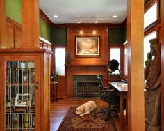 Craftsman Style Living Room Design, Pictures, Remodel, Decor and Ideas