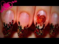 Nail Design - Thanksgiving nails. Migi pen. Fall leaves. Nail art. Home ...