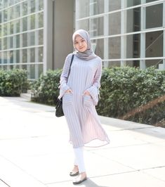 ZAFUL offers a wide selection of trendy fashion style women's clothing. Modern Hijab Fashion, Street Hijab Fashion, Muslim Fashion, Modest Fashion, Fashion Outfits, Casual Hijab Outfit, Hijab Chic, Casual Outfits, Modest Dresses