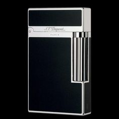 S.T. Dupont Line 2 - Black Chinese Lacquer and Palladium - double flame for cigars