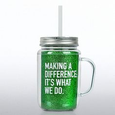 Show your appreciation with a gift that they'll use every day. Right on-trend, these 20 oz. double-wall mason jar tumblers with handle bring the wow factor!