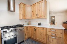 Number Eighty One - Character Solid Oak Shaker Kitchen Door With Silestone