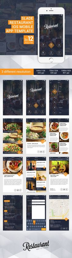 Slade Restaurant iOS Mobile App Template on Behance