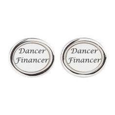 Oval Cufflinks > Dancer Financer > Dance Dad Shop  www.DanceDadShop.com