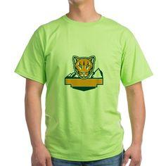 Cougar Mountain Lion Head Retro T-Shirt