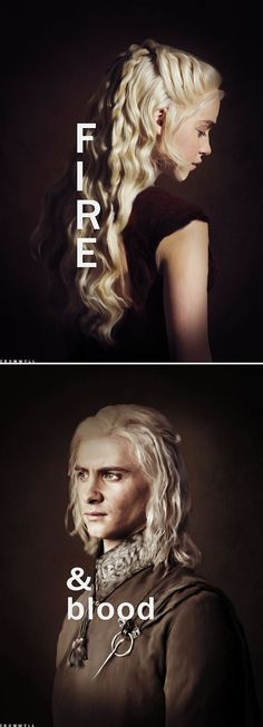 Daenerys + Viserys Targaryen: Fire & Blood #got #asoiaf: