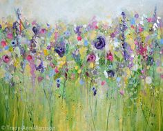 Spring Meadow - Acrylic and mixed media on canvas