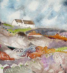 'Lakeside meadow' By Louise O'Hara of DrawntoStitch www.drawntostitch.com