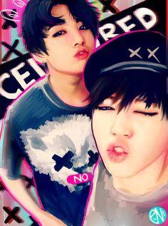 Read Jungkook Doesn't Like Jimin from the story JiKook Bts E Got7, Bts And Exo, Jimin Jungkook, Bts Bangtan Boy, Namjoon, Bts Taehyung, Park Ji Min, Jimin Fanart, Kpop Fanart