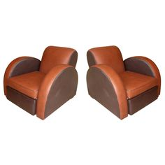 Two 1930s Armchairs by Michel Duffet | From a unique collection of antique and modern club chairs at https://www.1stdibs.com/furniture/seating/club-chairs/