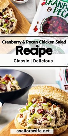#ad We are loving this Classic Cranberry & Pecan Chicken Salad from @asailorswifeblog featuring Fresh Gourmet from @samsclub! Just CLICK to grab the #recipe. #FreshGourmetatSamsClub @shespeaksup Pecan Chicken Salads, Chicken Salad Recipes, Best Lunch Recipes, Delicious Recipes, Dinner Recipes, Favorite Recipes, Honey Roasted Pecans, Cranberry Recipes, Mediterranean Recipes