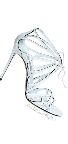 Regilla ⚜ Una Fiorentina in California Gladiator Shoes, Shoes Sandals, Jimmy Choo, Christian Louboutin, Blue Fashion, Fashion Shoes, Caged Heels, White Chic, Glass Slipper