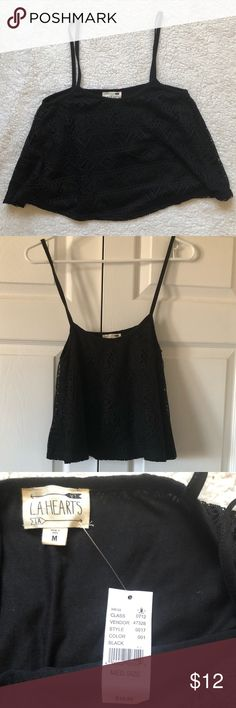 NWT Black Pacsun crop top Never worn brand new black Pacsun loose fitting crop top PacSun Tops Crop Tops