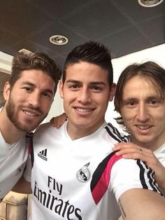 Sergio Ramos, James and Modric #footballislife
