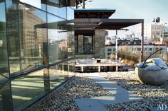Before: Outdoor Living Room : Michael Hirtenstein's Manhattan Triplex : Architectural Digest
