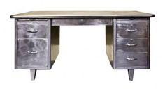 Stunning old metal desk. #LaBoutiqueVintage