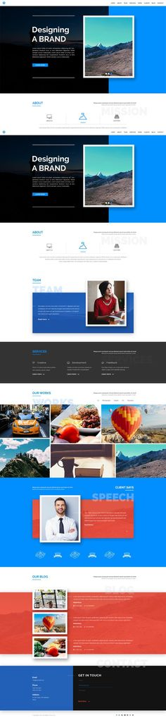 WALK – One Page Responsive Template. HTML/CSS Themes. $8.00