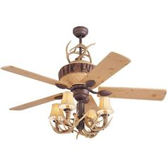 Great Lodge 52 Inch Weathered Iron Ceiling Fan