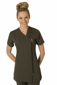 Belle Tunic CHARCOAL #salon #spa #hair # beauty #uniform http://www.salonweardirect.co.uk/Tunics/Belle-Tunic-CHARCOAL/prod_1549.html