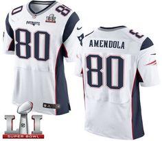 nike patriots 80 danny amendola white super bowl li 51 mens stitched nfl new elite