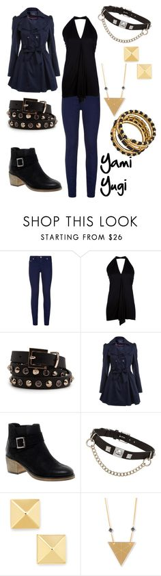 """Yami Yugi"" by winterlake25 ❤ liked on Polyvore featuring True Religion, Rick Owens, MANGO, Miss Selfridge, ASOS, Fallon, Rebecca Boatfield and Blu Bijoux"