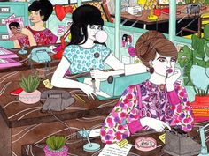 The Pool by Laura Callaghan Illustration, via Flickr