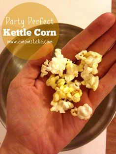 How to make party perfect kettle corn! Plus, ideas for hosting an at home pajama reading party.