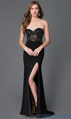 Enticing Floor Length Strapless Sweetheart Formal Dress with Beaded Bodice