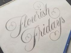 Drew Melton Calligraphy. 15 Must Follow Calligraphers on Dribbble #Calligraphy #Typography
