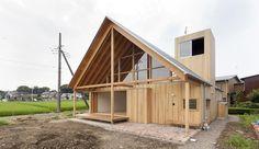 Maison bois japonaise et son toit favorisant la ventilation naturelle, Gabled-Roof par Tailored Design Lab - Kawagoe, Japon #construiretendance