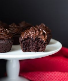 Chocolate Beet Cupcakes with Avocado Frosting- so fudgy and decadent, you would never guess they're made with healthy ingredients! (vegan, gluten-free and refined sugar-free)