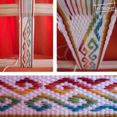 From the blog of El Taleret,  a workshop in Spain which teaches Mapuche weaving.