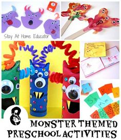 8 Monster Themed Preschool Activities - Stay At Home Educator