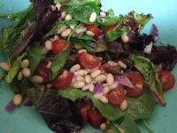Mixed Greens and White Bean Salad