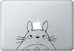 Totoro - SALE PRICE - Macbook Decal - Laptop Sticker - Mac Decals - Anime Humor Funny Vinyl Decal. $6,45, via Etsy.