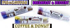 breakfast and desssert, pie and coffee, coffee and donut