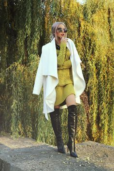 Explore PandaLovePhotography's photos on Flickr. PandaLovePhotography has… Fashion Poses, Fashion Outfits, Gold Rush, Cool Boots, Classy Women, Over The Knee Boots, Raincoat, Street Style, Style Inspiration