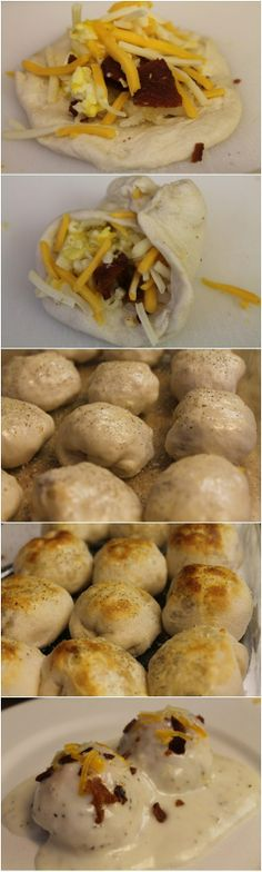 Breakfast Bubble Biscuits (Stuffed)