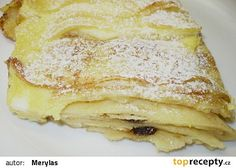 Zapečené palačinky s tvarohem recept - TopRecepty.cz Sweet Dishes Recipes, Dessert Recipes, Desserts, Czech Recipes, Ethnic Recipes, Look Body, Apple Pie, Smoothies, Pancakes