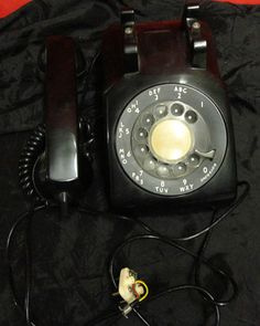 Classic Rotary Dial Desk Phone Antique Black Bell South Retro Mad Men Vintage