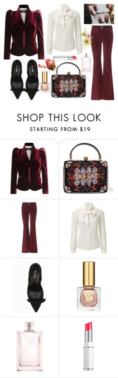 """Romantic style"" by nicolesynth ❤ liked on Polyvore featuring Dsquared2, Alexander McQueen, M.i.h Jeans, Nly Shoes, Estée Lauder, Burberry, Lancôme and romantic"