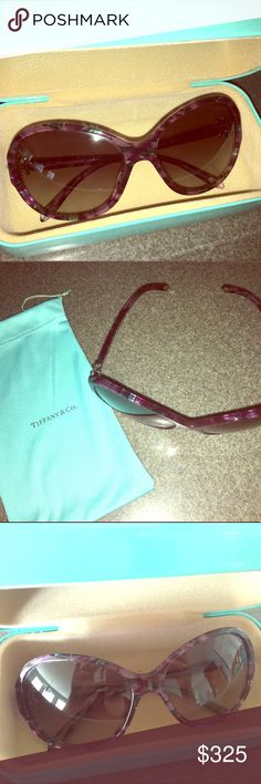 Tiffany&Co. Sunglasses NWT. purple TIFF&CO sunglasses. very elegant. comes with the pouch and the box 💙 Tiffany & Co. Accessories Sunglasses