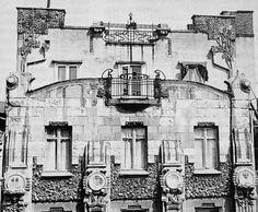 Istanbul ~ OĞUZ TOPOĞLU : botter apartmanı ön cephesinden mimari bir ayrıntı...