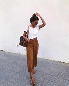 9ccf9851a5a Neutral earthy tone outfit for summer