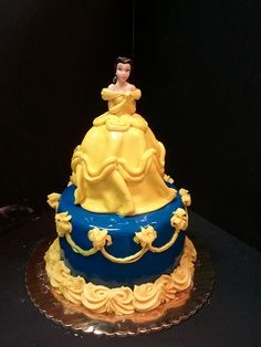 Belle cake Anna would be in heaven Belle is her fav Lol fb